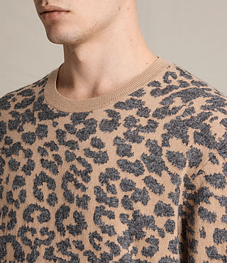 Hombres Dima Crew Jumper (TAN/BROWN) - product_image_alt_text_2