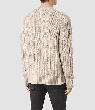 Men's Fiske Crew Jumper (Taupe Marl) - product_image_alt_text_4