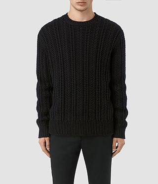 Uomo Fiske Crew Jumper (INK NAVY)