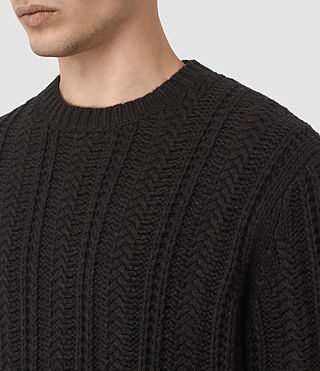 Mens Fiske Crew Sweater (BITTER BLACK MARL) - product_image_alt_text_2