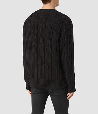 Mens Fiske Crew Sweater (BITTER BLACK MARL) - product_image_alt_text_4
