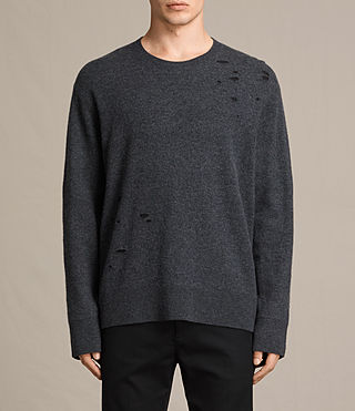 Mens Alekk Crew Sweater (Charcoal Marl)