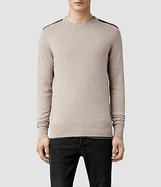 Mens Falster Crew Sweater (Taupe)