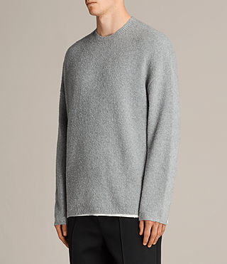 Mens Arinn Crew Sweater (Grey Marl) - product_image_alt_text_3