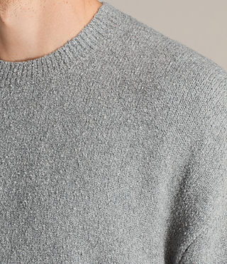 Mens Arinn Crew Sweater (Grey Marl) - product_image_alt_text_4