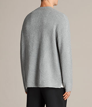 Mens Arinn Crew Sweater (Grey Marl) - product_image_alt_text_5