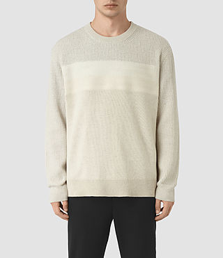 Men's Helm Crew Jumper (Ecru)