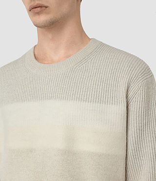 Mens Helm Crew Sweater (Ecru) - product_image_alt_text_2