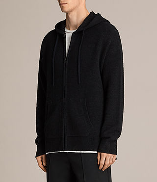 Men's Arinn Zip Hoody (Black) - Image 3