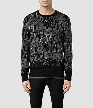 Mens Canopy Crew Jumper (Black/Khaki)