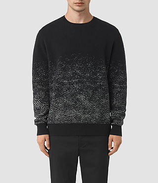 Men's Korttan Crew Jumper (Black) -