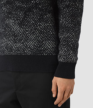 Mens Korttan Crew Jumper (Black) - product_image_alt_text_2