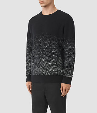 Mens Korttan Crew Jumper (Black) - product_image_alt_text_3