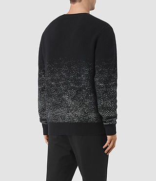 Mens Korttan Crew Jumper (Black) - product_image_alt_text_4