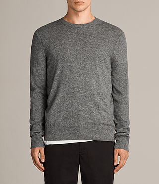 Hombre Alec Crew Sweater (Grey Marl) - product_image_alt_text_1