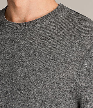 Mens Alec Crew Sweater (Grey Marl) - Image 2
