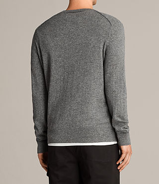 Mens Alec Crew Sweater (Grey Marl) - Image 4