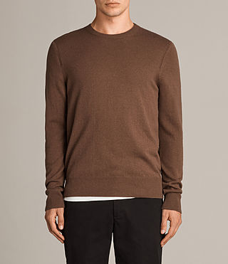 Men's Alec Crew Jumper (CAMEL BROWN) - product_image_alt_text_1
