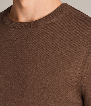 Men's Alec Crew Jumper (CAMEL BROWN) - Image 2