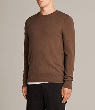 Men's Alec Crew Jumper (CAMEL BROWN) - product_image_alt_text_3