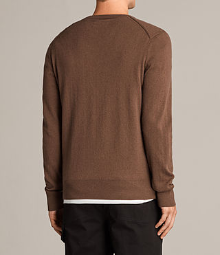 Men's Alec Crew Jumper (CAMEL BROWN) - product_image_alt_text_4