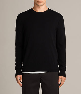Men's Alec Crew Jumper (Black) - Image 1