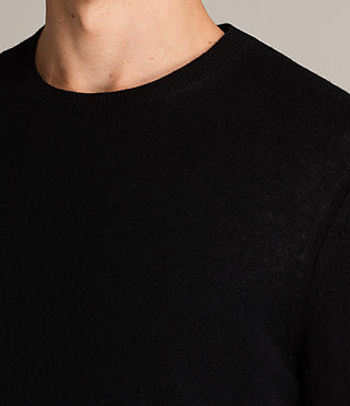 Men's Alec Crew Jumper (Black) - Image 2