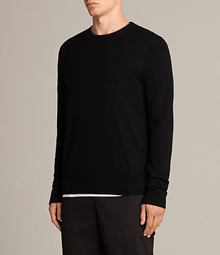 Men's Alec Crew Jumper (Black) - Image 3