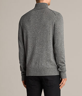 Hombre Alec Roll Neck Sweater (Grey Marl) - product_image_alt_text_4