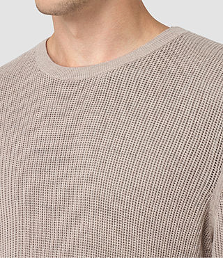 Mens Zellern Crew Sweater (Taupe Marl) - product_image_alt_text_2