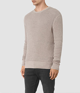 Mens Zellern Crew Sweater (Taupe Marl) - product_image_alt_text_3