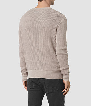 Mens Zellern Crew Sweater (Taupe Marl) - product_image_alt_text_4