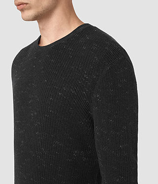 Men's Zellern Crew Jumper (Cinder Black Marl) - product_image_alt_text_2