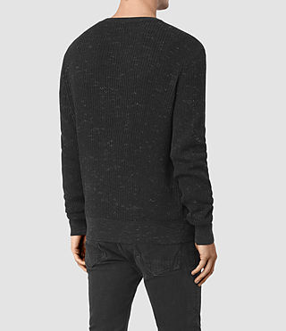 Men's Zellern Crew Jumper (Cinder Black Marl) - product_image_alt_text_4