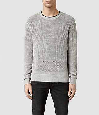 Mens Dyle Crew Jumper (Grey Marl)