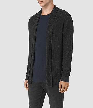 Men's Zellern Cardigan (Cinder Black Marl) - product_image_alt_text_2