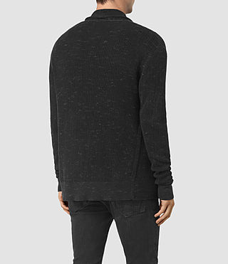 Men's Zellern Cardigan (Cinder Black Marl) - product_image_alt_text_3