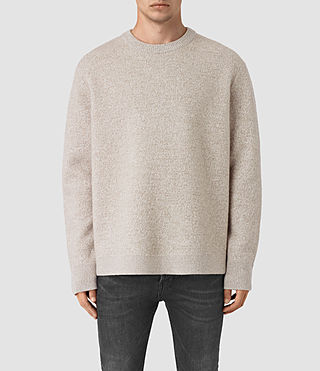 Hombre Penritt Crew Sweater (Taupe Marl)