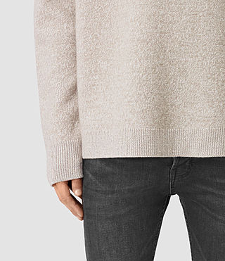 Mens Penritt Crew Sweater (Taupe Marl) - product_image_alt_text_2