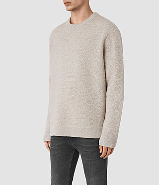 Mens Penritt Crew Sweater (Taupe Marl) - product_image_alt_text_3