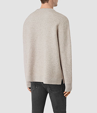 Mens Penritt Crew Sweater (Taupe Marl) - product_image_alt_text_4