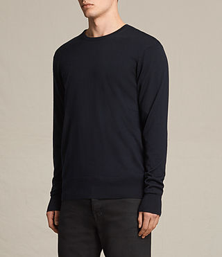 Hombres Fors Merino Crew Jumper (INK NAVY) - product_image_alt_text_2