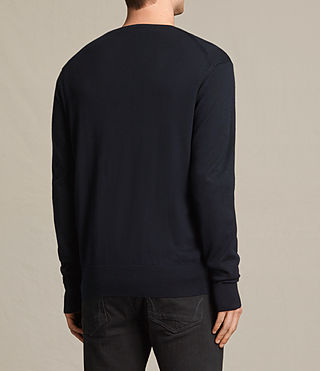 Hombres Fors Merino Crew Jumper (INK NAVY) - product_image_alt_text_3