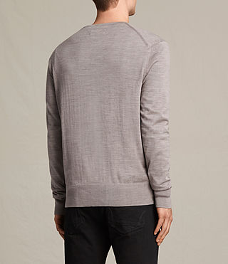 Hommes Pull Fors Merino (PUTTY GREY MARL) - product_image_alt_text_3
