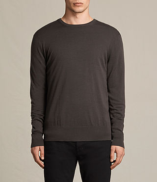 Hombre Fors Merino Crew Jumper (Military Brown) - product_image_alt_text_1
