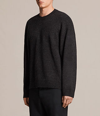 Mens Arlo Crew Sweater (Cinder Black Marl) - product_image_alt_text_3