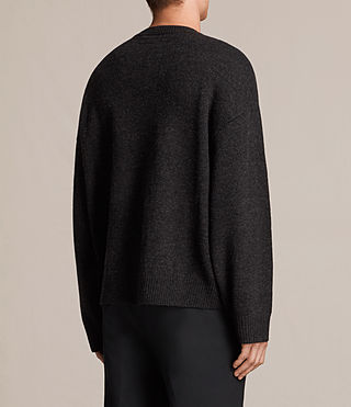 Mens Arlo Crew Sweater (Cinder Black Marl) - product_image_alt_text_4