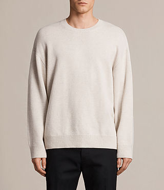 Men's Arlo Crew Jumper (ECRU WHITE)
