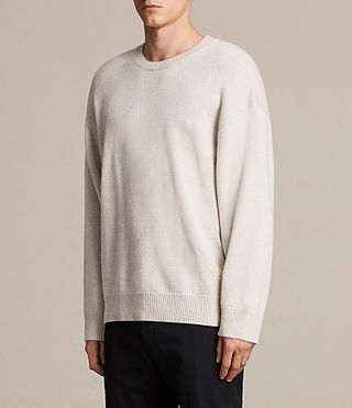 Hombre Arlo Crew Sweater (ECRU WHITE) - product_image_alt_text_3