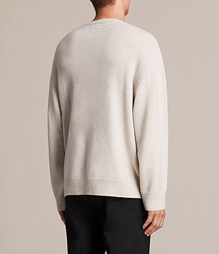 Hombre Arlo Crew Sweater (ECRU WHITE) - product_image_alt_text_4